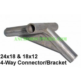 Tent Spare Parts-24x18 4-Way Connector/Bracket