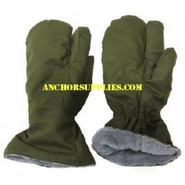 Czech Army Warm 3 Finger Mittens / Gloves