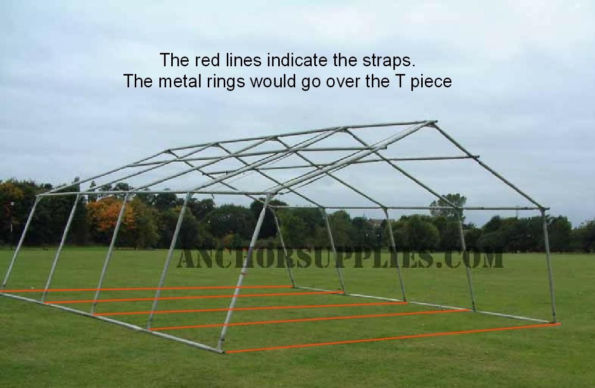 & Base Restraint Straps British Army 24x18 Frame Tent