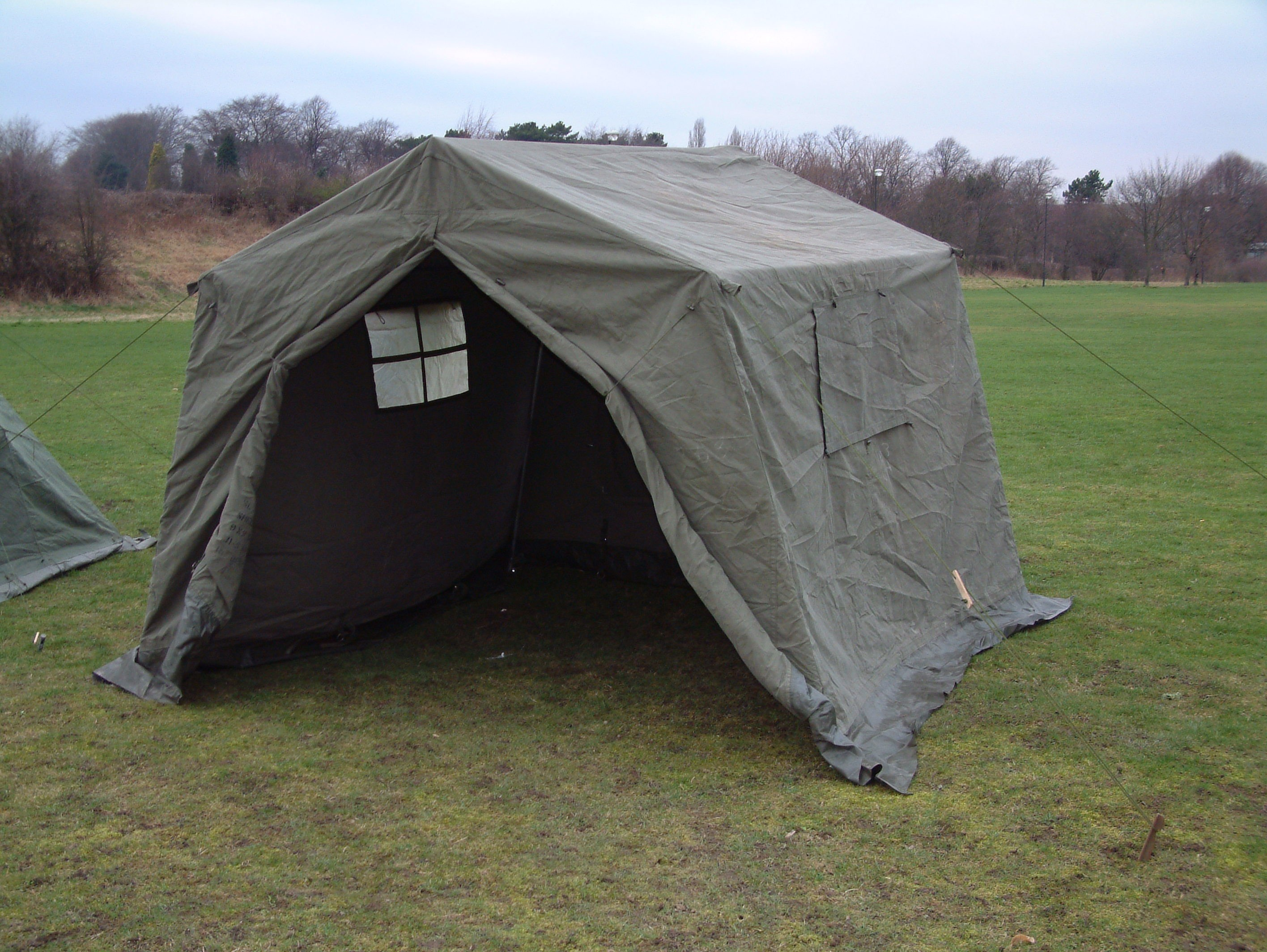 9 x 9 Ex British Army Frame Tent - Unissued : canvas tents uk - memphite.com