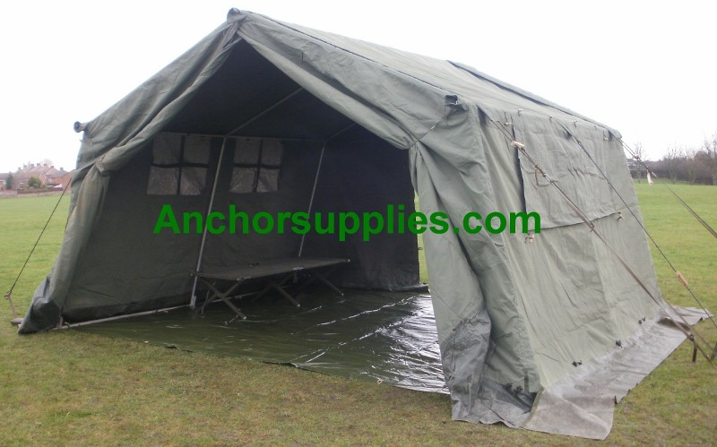 12 x 12 ex british army frame tent unissued for How to build a canvas tent frame