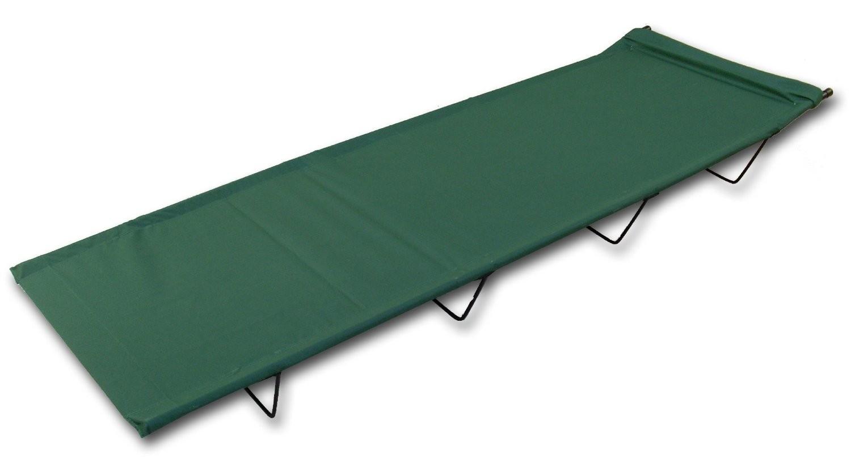 Leg camp bed green