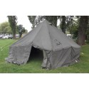 Ex British Army 10 Man Arctic Bell Tent with Chimney Section - Heavy Duty - Unissued