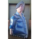 Ex Marines Event Display Inflatable / Blow Up Marine with Blower