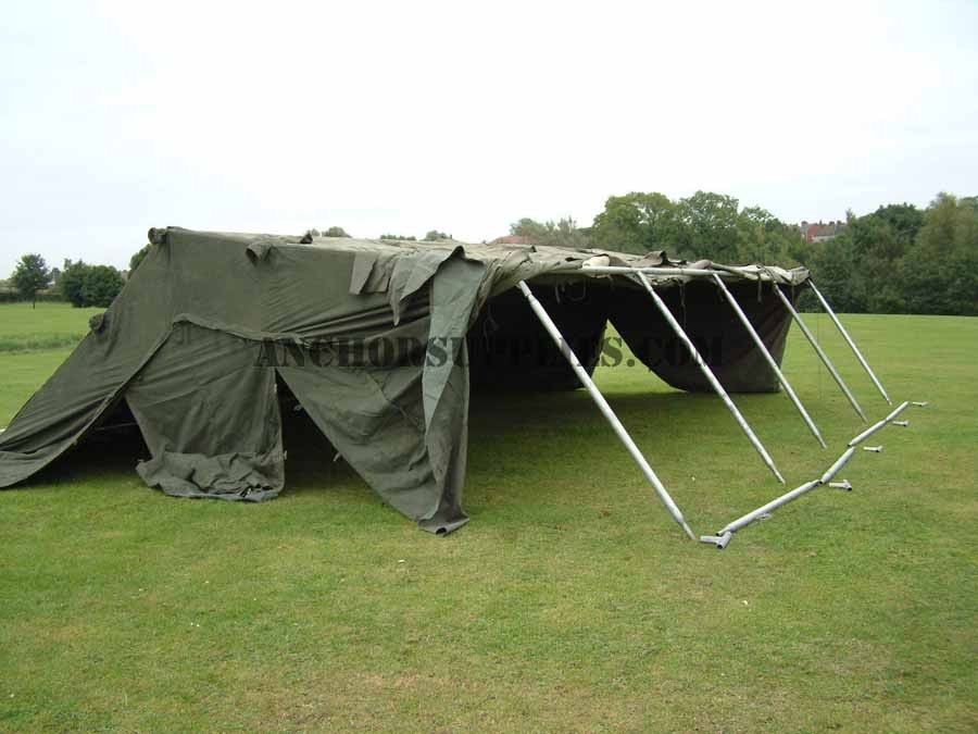 More Views & 24 x 18 Ex British Army Frame Tent - Super Grade