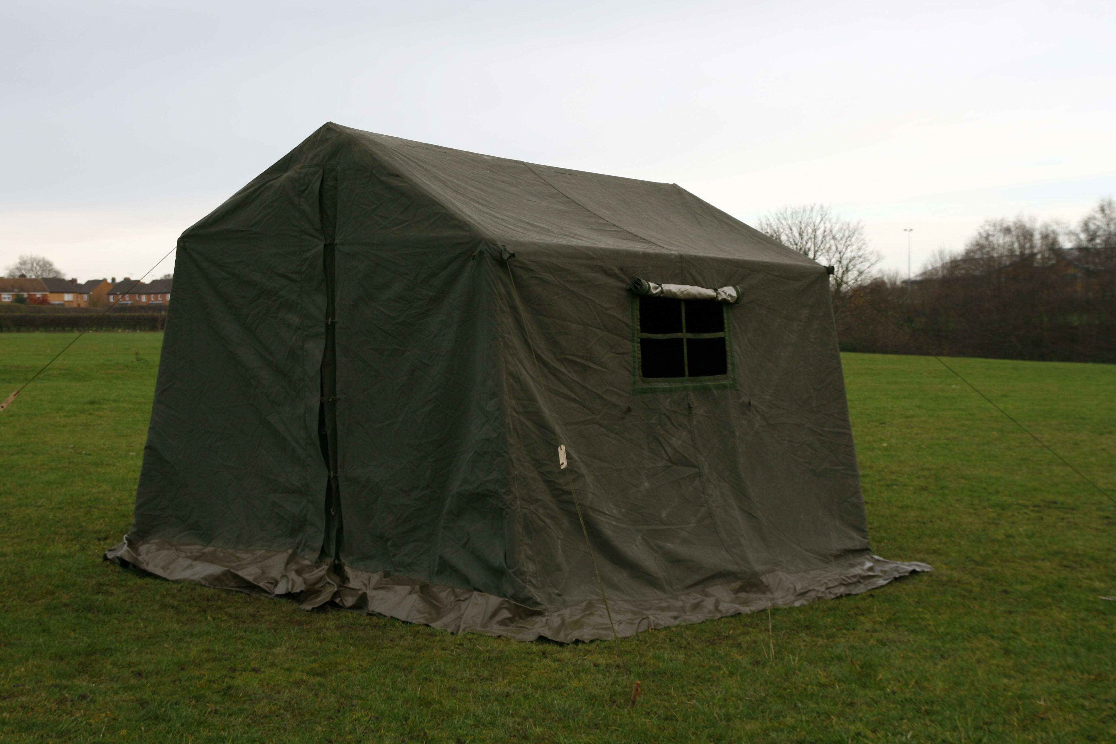 9 X 9 Ex British Army Frame Tent Super Grade