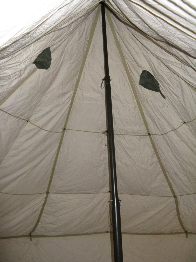 More Views & Ex British Army 10 Man Arctic Bell Tent Liner - A Grade
