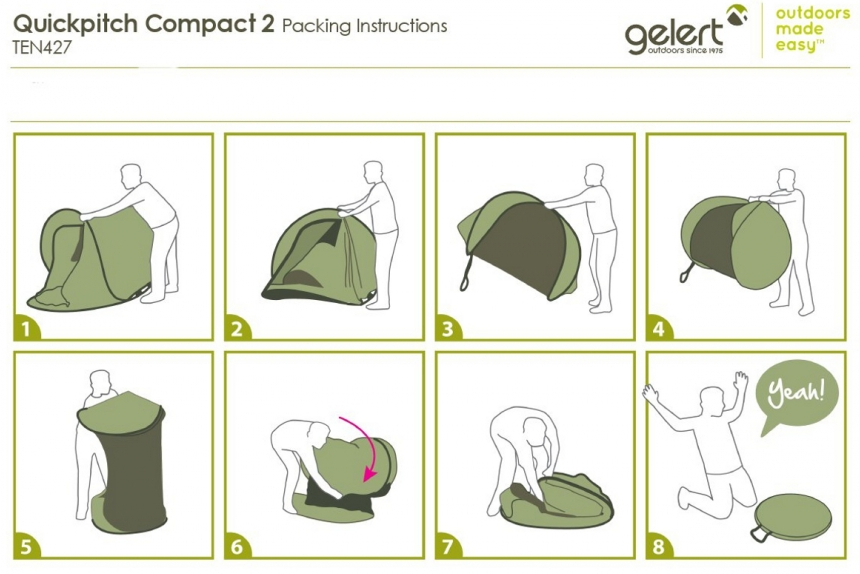 Gelert Quickpitch Single Skin Pop Up Tent