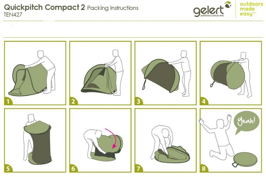 Gelert Quickpitch Single Skin Pop Up Tent