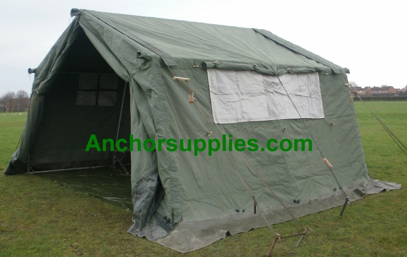 More Views & 12x12 Ex British Army Frame Tent (AKA 15x12) - A Grade